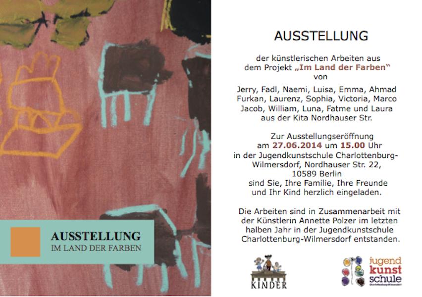 Einladung Kitaausstellung Webseite Juni 2014